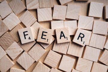 lettres de Scrabble peur en anglais